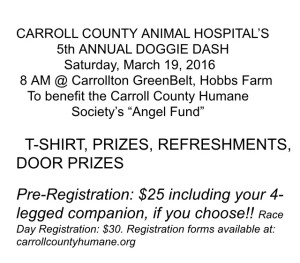 Carroll County Animal Hospital's 5th Annual Doggie Dash